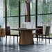 Modloft Sullivan Walnut Oval Modern Dining Table - Room Setting