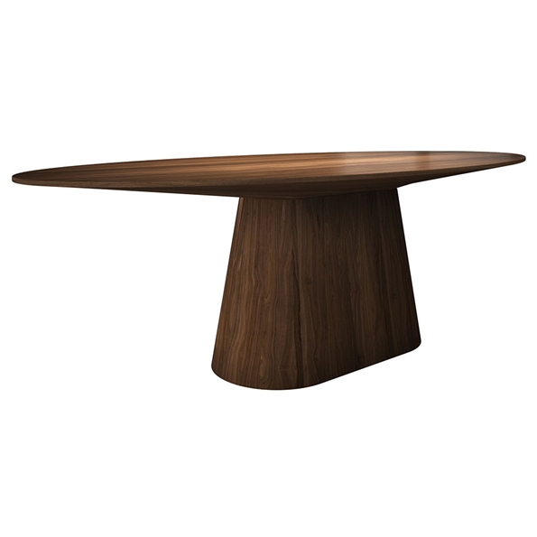 Modloft Sullivan Walnut Oval Modern Dining Table
