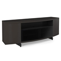 BDI Sweep Charcoal Stained Ash Modern TV Stand