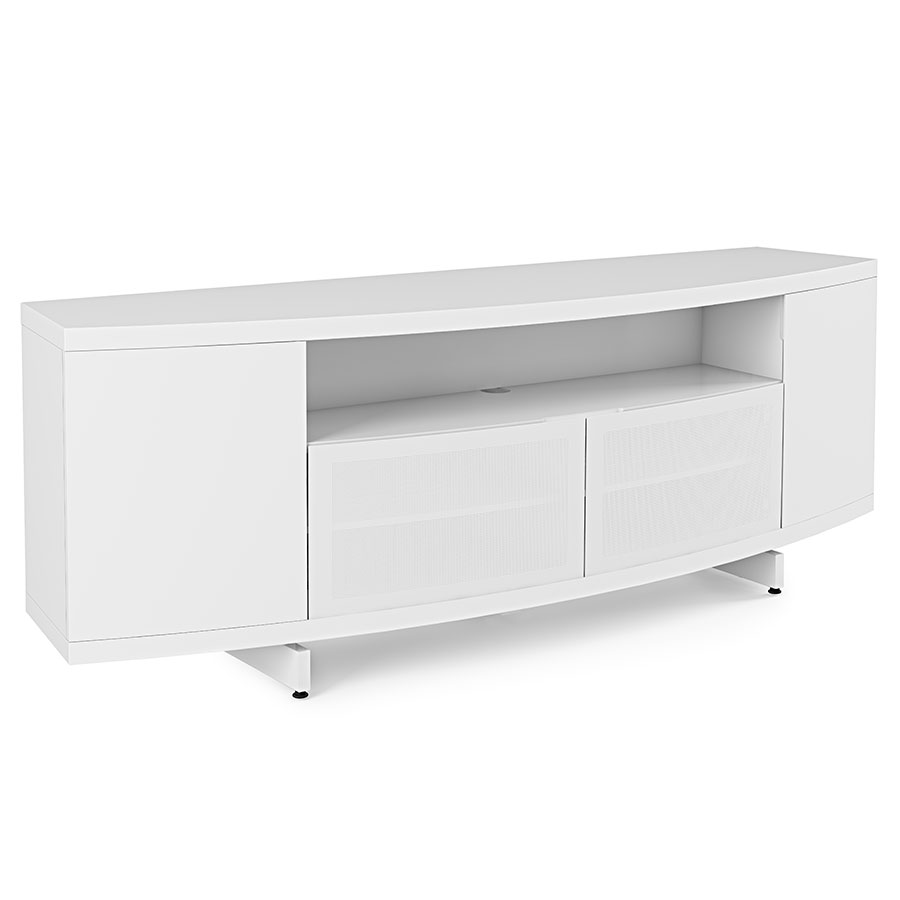 modern tv stand white. bdi sweep white modern tv stand tv