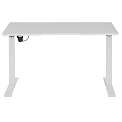 Swift Modern White Standing Desk by Unique Furniture - Low Position