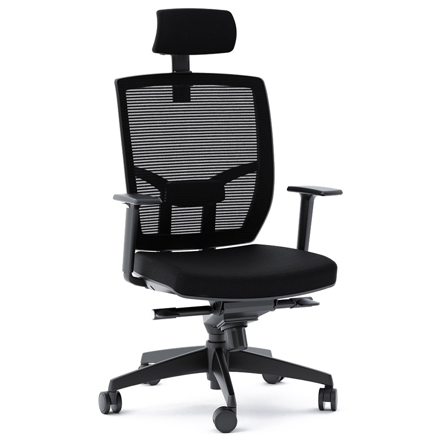 BDI TC-223 Black Fabric Office Chair