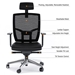 BDI TC-223 Black Leather Office Chair Features