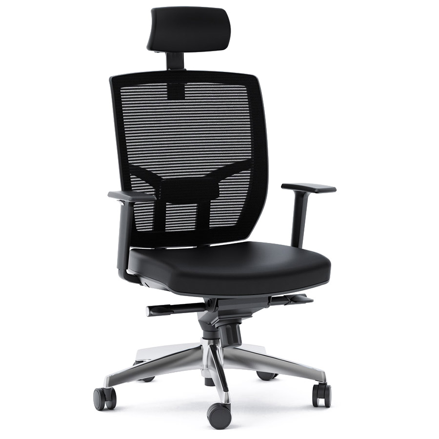 Tc 223 Black Leather Modern Office Chair By Bdi Eurway