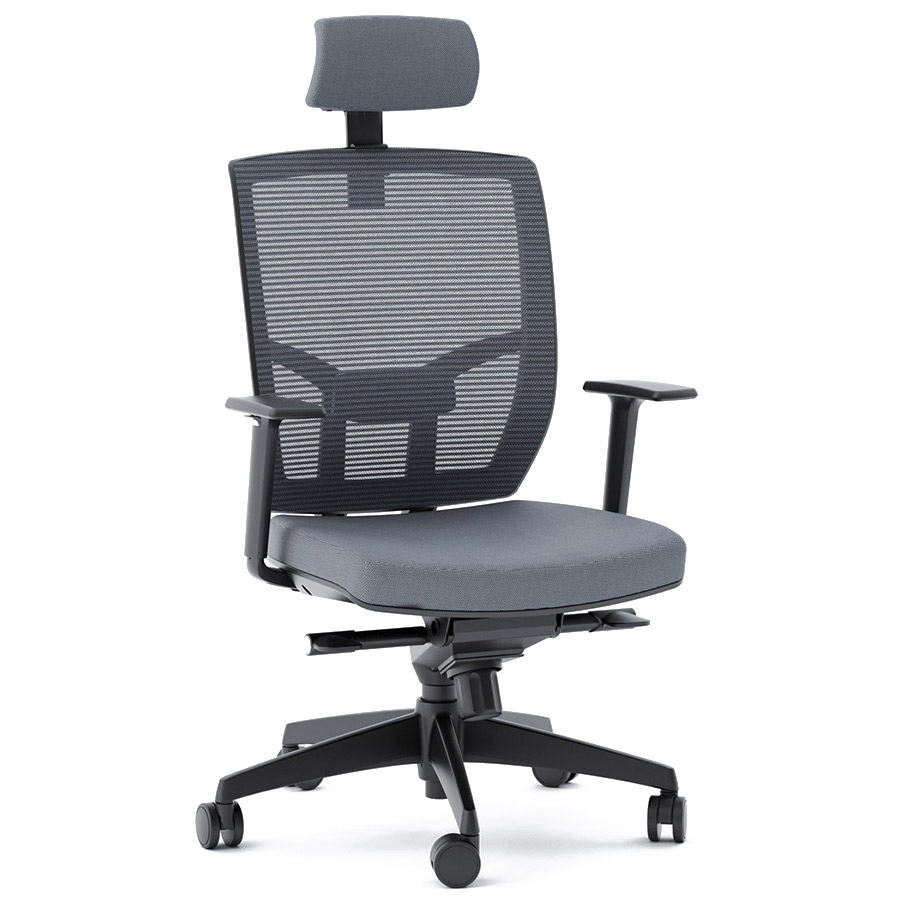 cloth office chairs. BDI TC-223 Gray Fabric Office Chair Cloth Chairs