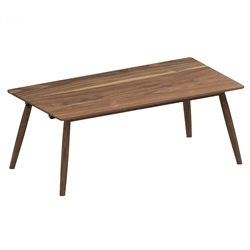 Tahoe 77 Inch Modern Walnut Dining Table