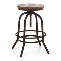 Twin Peaks Backless Adjustable Contemporary Counter Stool
