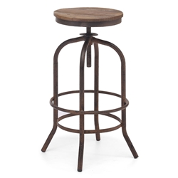 Twin Peaks Contemporary Backless Adjustable Bar Stool