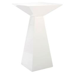 Tad-B White Modern Bar Table