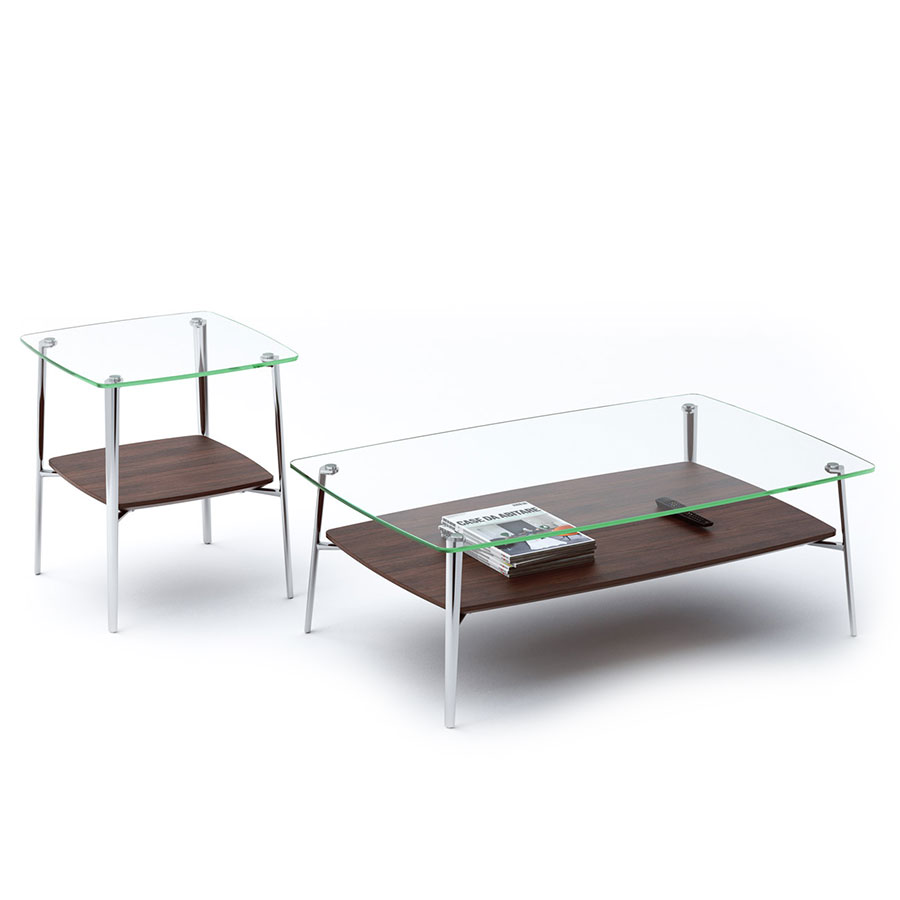 Tazz Chocolate Contemporary Occasional Tables
