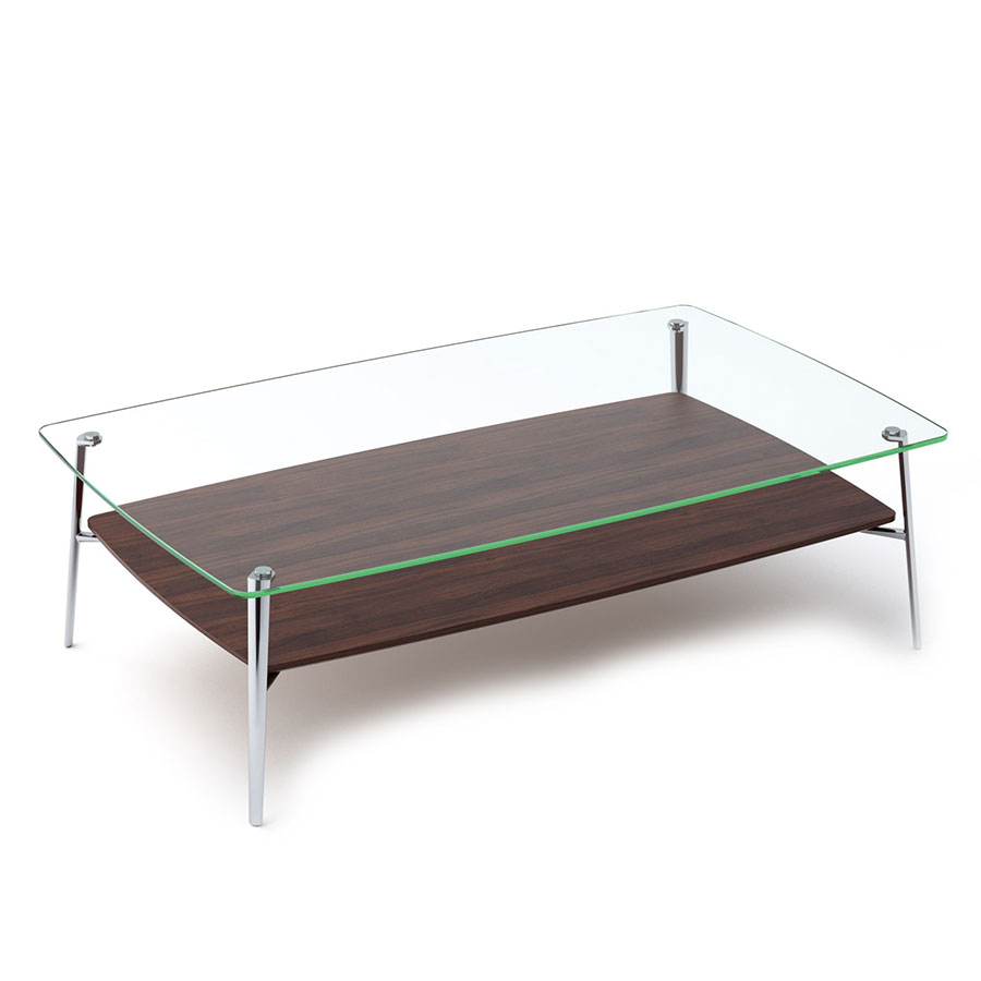 Tazz Large Chocolate Contemporary Cocktail Table