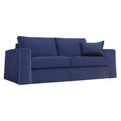 Temple Modern Sleeper Sofa in Navy Blue by Pezzan