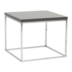 Teresa Modern End Table in Gray by Euro Style