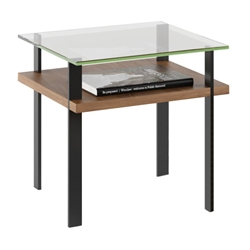 Terrace Modern End Table in Walnut by BDI
