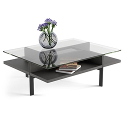 Terrace Modern Rectangular Charcoal Coffee Table