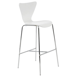 Tendy Modern White Bar Stool