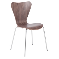 Tendy Modern Walnut Dining Chair