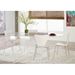 Terrell Modern Side Chairs in White Lacquer