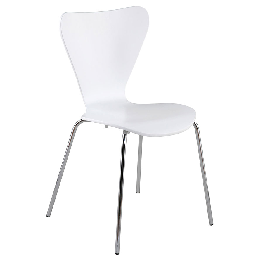 Tendy Modern White Dining Chair