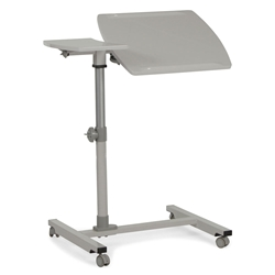 Tillman Modern White Adjustable Reading Table - Top Up + Tilted