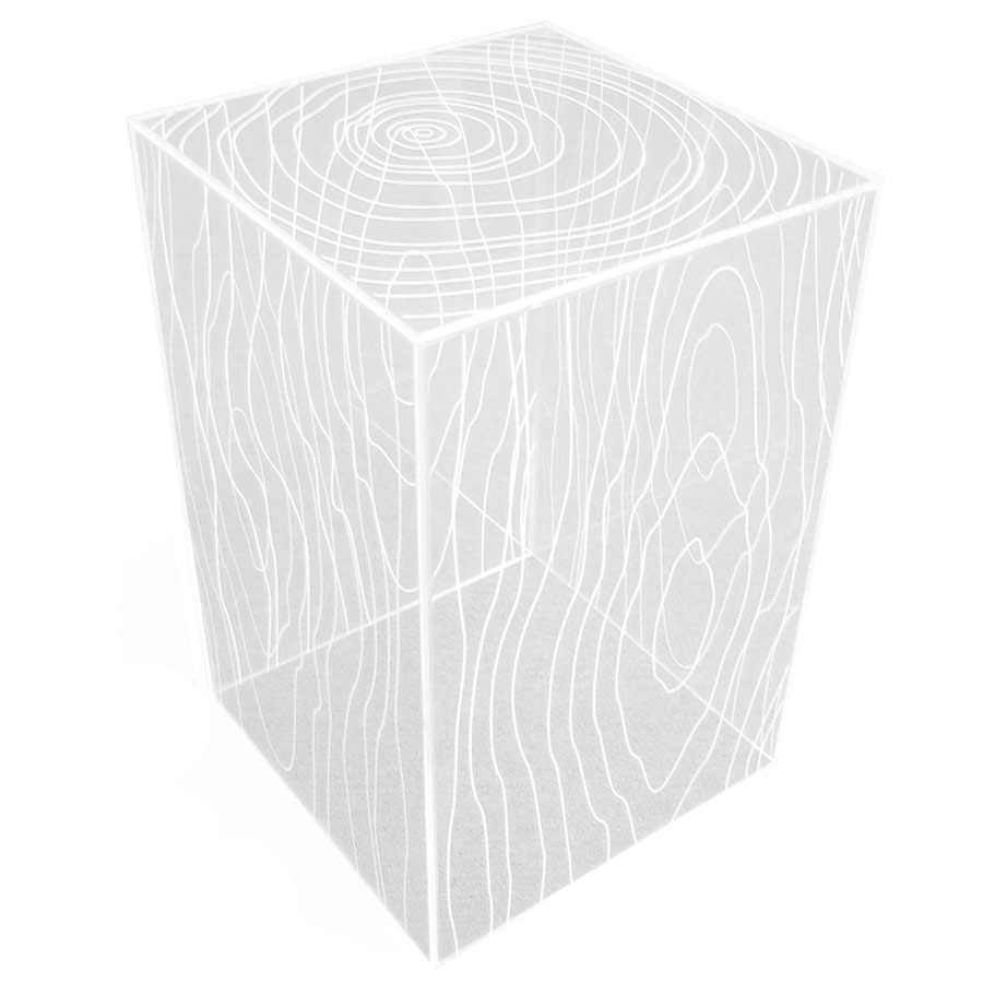 Timber Contemporary Acrylic End Table by Gus Modern