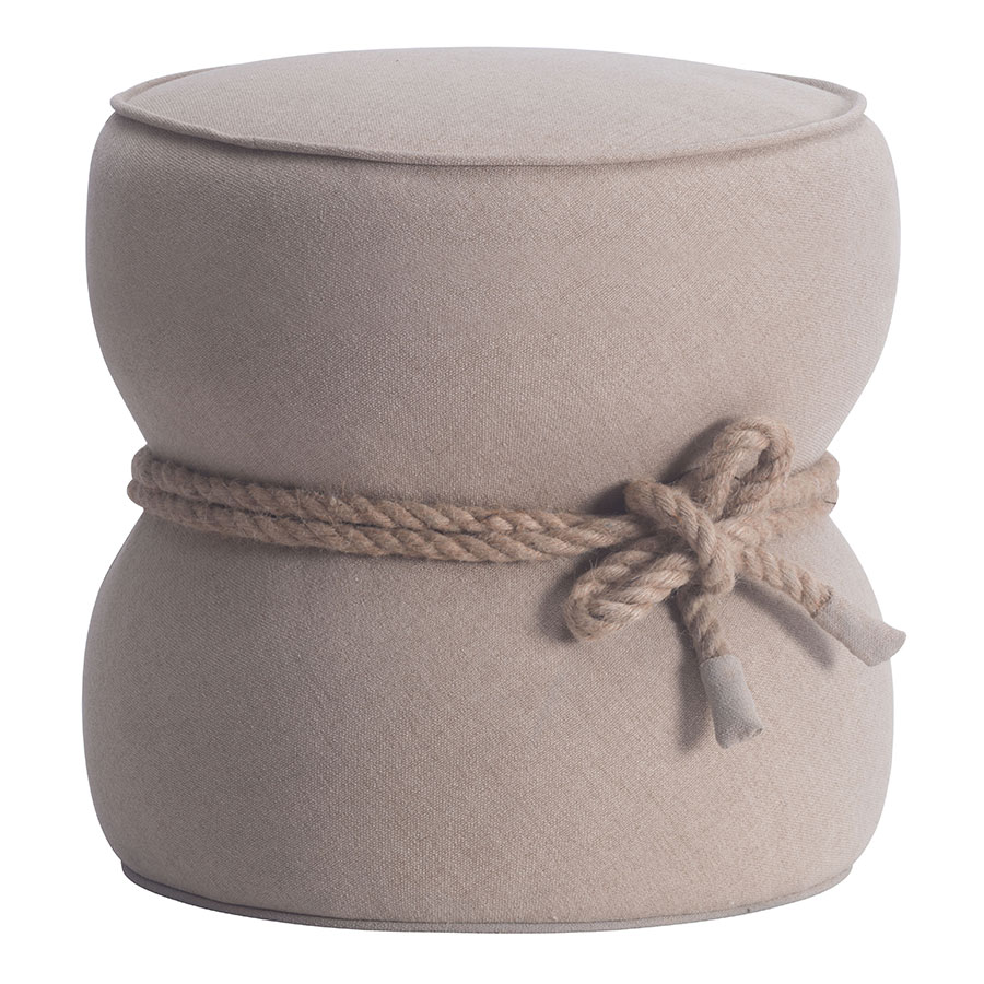 Tippy Beige Contemporary Ottoman