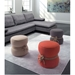 Tippy Contemporary Fabric + Rope Ottoman