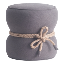 Tubby Gray Contemporary Ottoman