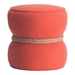 Tippy Orange Modern Ottoman