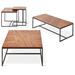 Gus* Modern Tobias Walnut Accent Tables