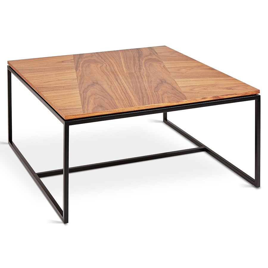 Tobias Square Modern Coffee Table Walnut Eurway