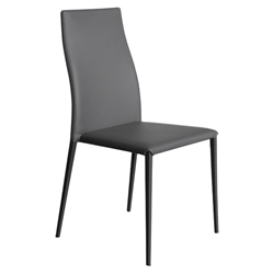Tracy Anthracite Modern Dining Side Chair by Pezzan