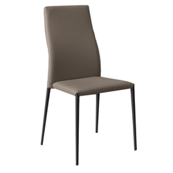 Tracy Taupe Modern Dining Side Chair by Pezzan