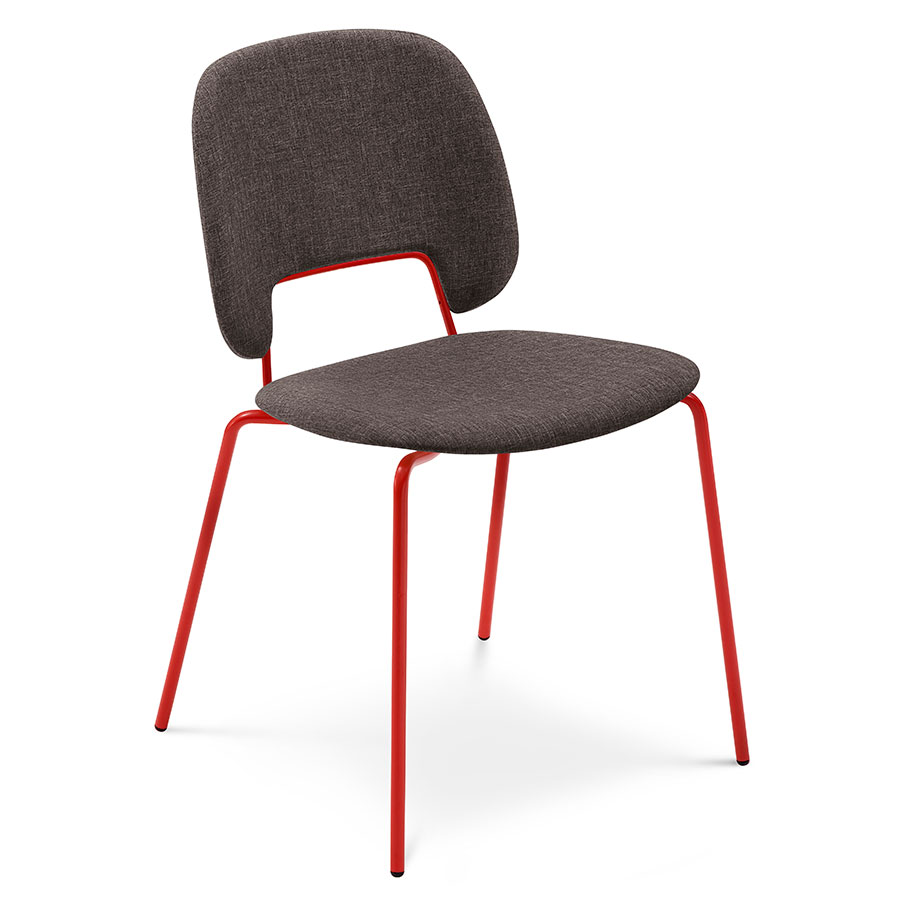 Trajan Red + Brown Modern Dining Chair