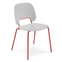 Trajan Red + Gray Modern Dining Chair