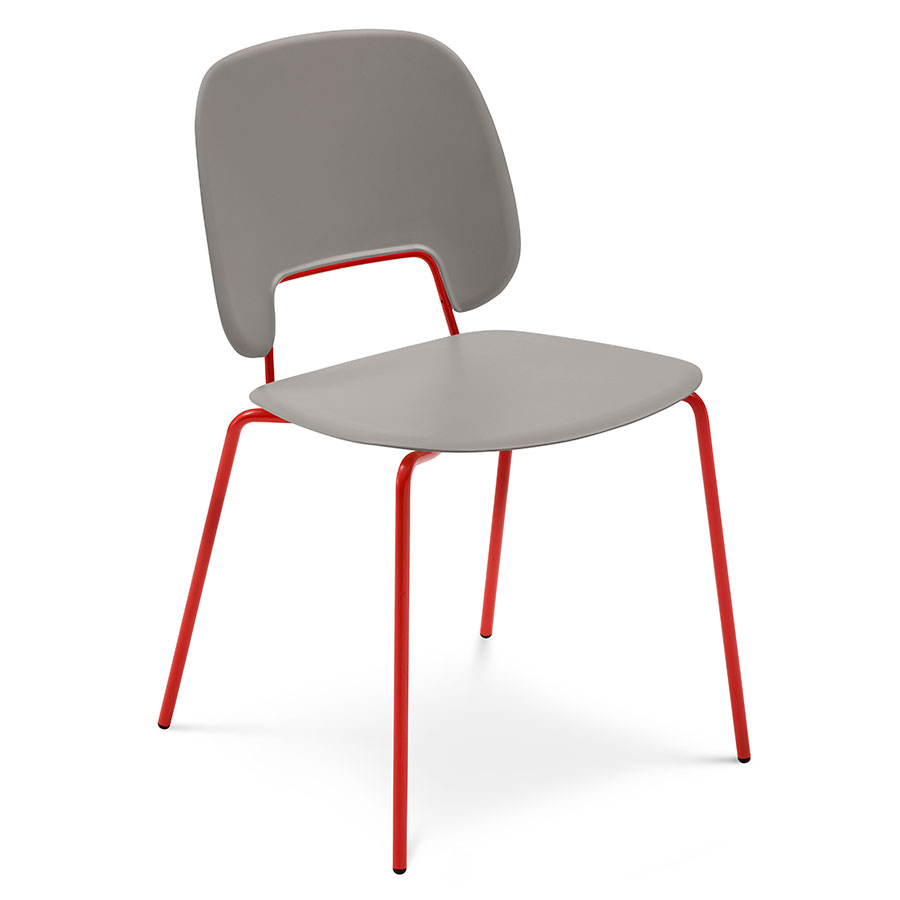 Trajan red tan modern dining chair eurway for Red modern dining chairs