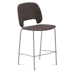 Trajan Tan + Brown Modern Bar Stool