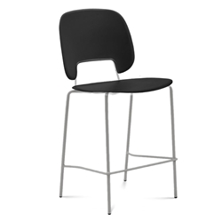 Trajan Tan + Black Modern Counter Stool