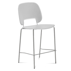 Trajan Tan + Gray Modern Counter Stool