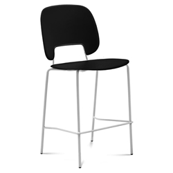 Trajan White + Black Modern Bar Stool