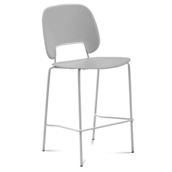 Trajan White + Gray Modern Counter Stool
