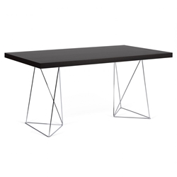 Trestles 63 Inch Wenge Dining Table by TemaHome
