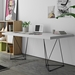TemaHome Multi White Top with Trestles Black Base