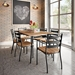 Tori Wooden Seat Modern Dining Chairs