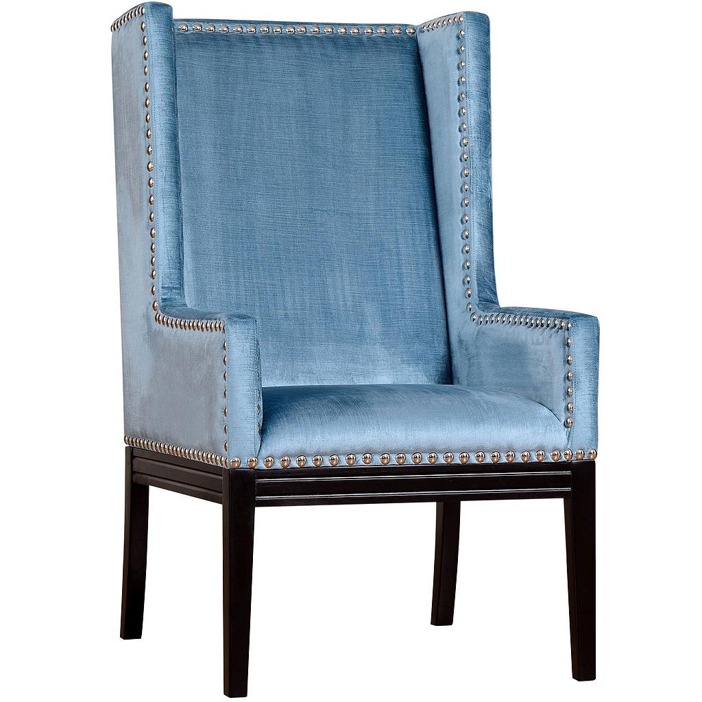 Trinidad Contemporary Blue Velvet Chair Collectic Home