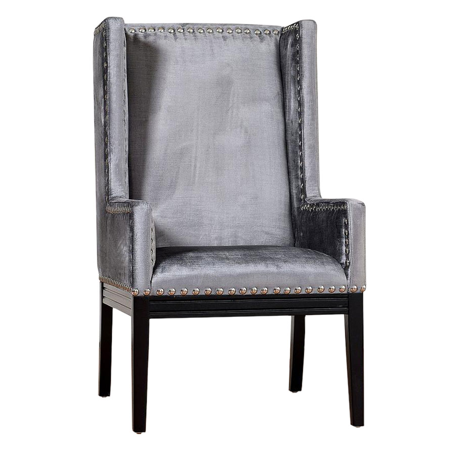 Trinidad Contemporary Gray Velvet Chair Collectic Home