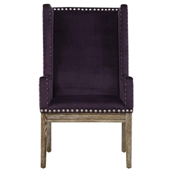 Trinidad Contemporary Purple Velvet Arm Chair