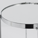 Trilogy Chrome Modern Side Table