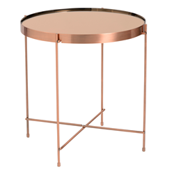 Trilogy Copper Modern Side Table