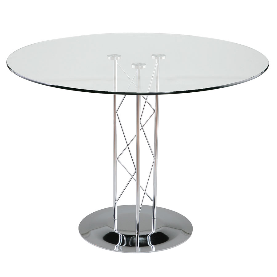 Trave Modern Classic 36 In. Dining Table w/ Chrome Base